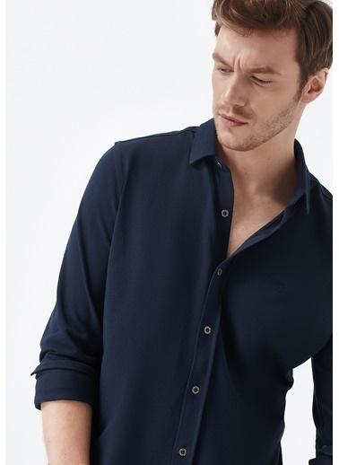 Mavi  Örme Gömlek Lacivert